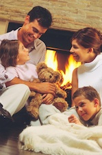 family talking fireplace Teaching Family Values to Your Family