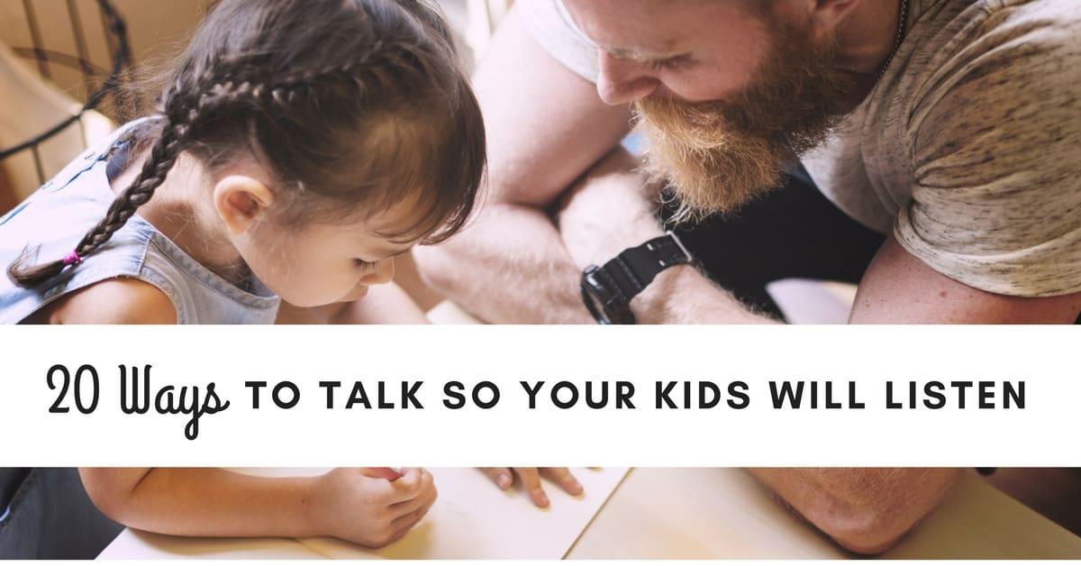 listen to a talk_Feeling Hopeless? Learn How To Talk So Your Kids Will Listen