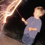 boy sparkler 150x150 Fireworks Safety   How to Have a Safe 4th of July Fireworks at Home