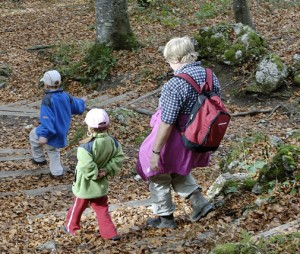 family hiking woods fall 300x254 Thanksgiving Activity Ideas for the Whole Family