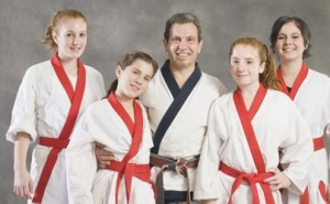 karate family 300x185 Yoga and Martial Arts