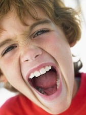 boy screaming Help Your Childs Interruption Habit