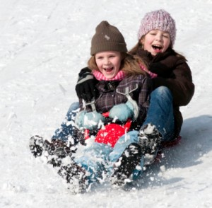 kids sledding 300x294 Sled Safety for Children