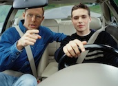 dad teen son driving lesson Safety Tips for Teen Drivers