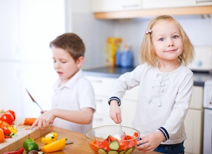 children cooking nutrition healthy meals
