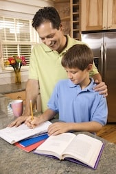 homework Dads in School   Tips for Getting Involved in Your Childs Education