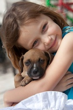 girl dog Pet Ownership May Decrease Infections in Children