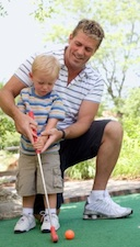 dad toddler golf Sports Psychology