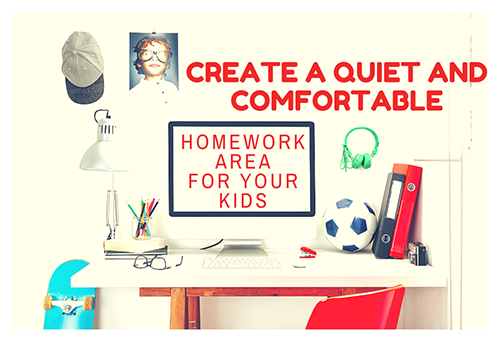 Create a Quiet and Comfortable Homework Area for Your Kids 500x343