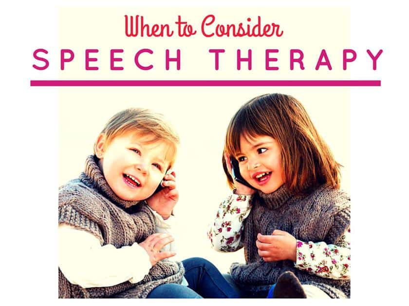 When to Consider Speech Therapy