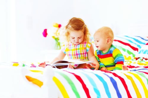 little babies reading with filter shutterstock_mini