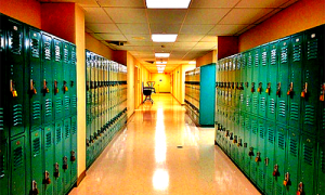 school hallway cdi graphic