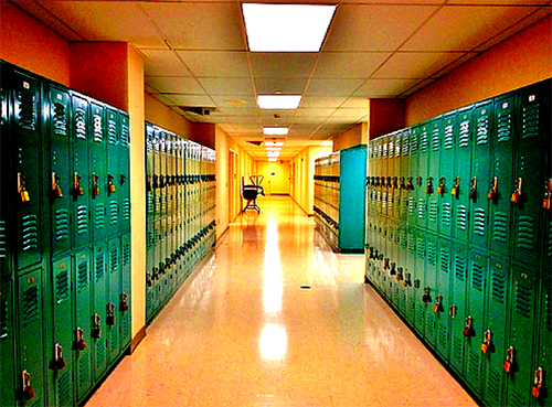 school hallway cdi graphic