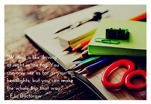 writing quote graphic