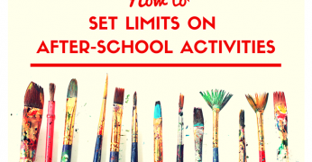 How to Set Limits on After-School Activities 715x455