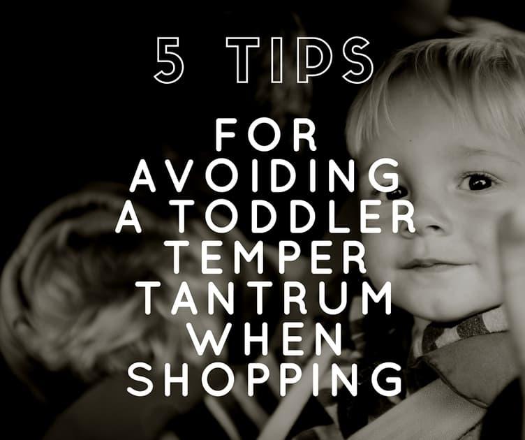 5 Tips for Avoiding a Toddler Temper Tantrum While Shopping Graphic Facebook