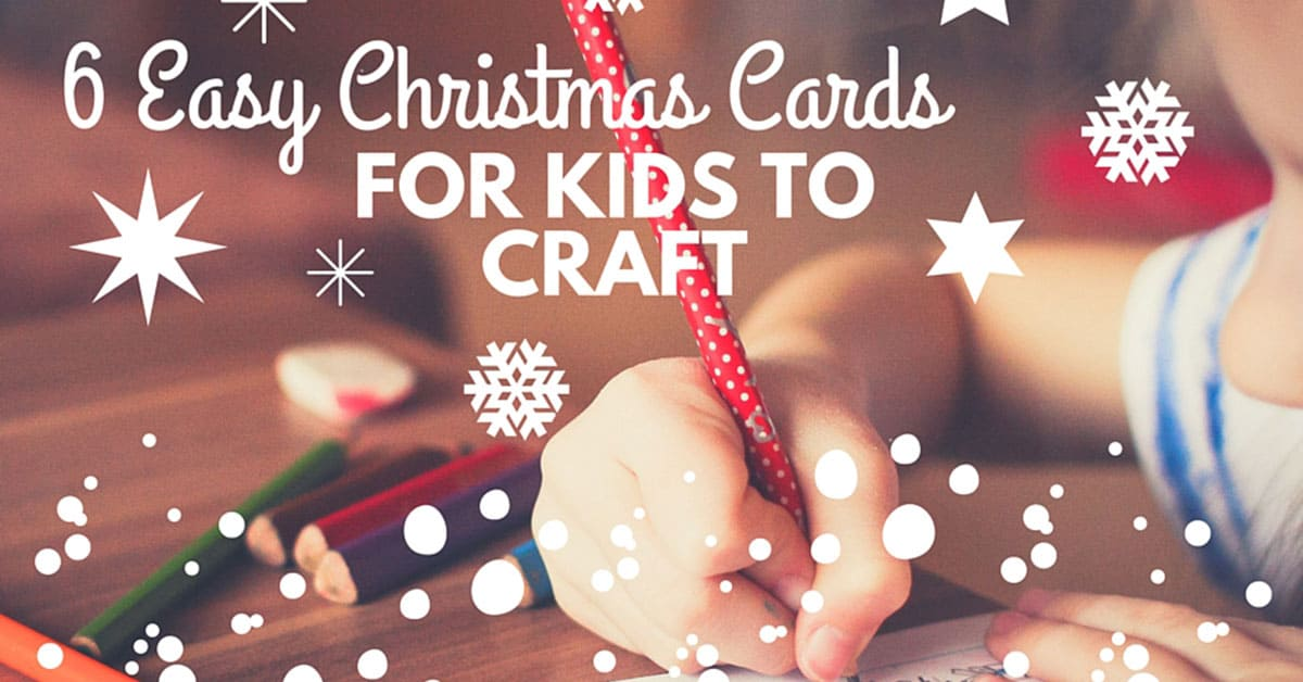 6 easy christmas cards for kids to craft - Christmas Card Print Out