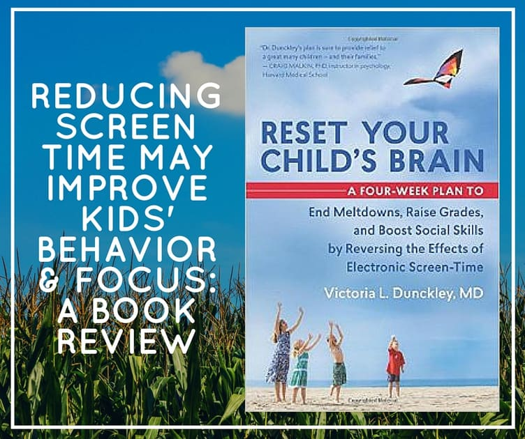reducing screen time may improve kids' behavior & focus- a book review