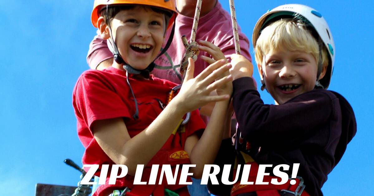 zip line rulesfb